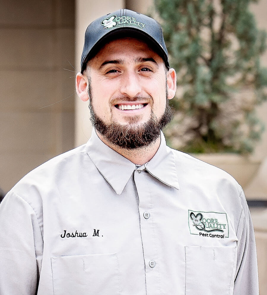 Josh of Moore Quality Pest Control in Tracy